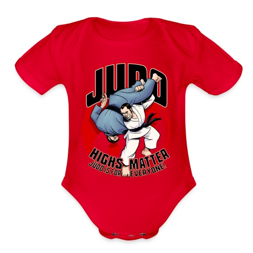 Judo shirt Highs Matter - Organic Short Sleeve Baby Bodysuit