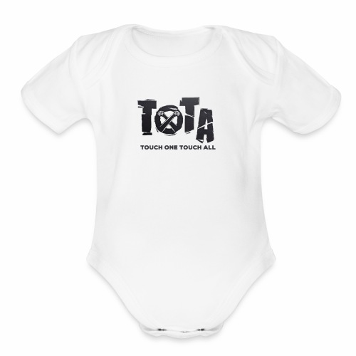 Touch One Touch All original logo - Organic Short Sleeve Baby Bodysuit