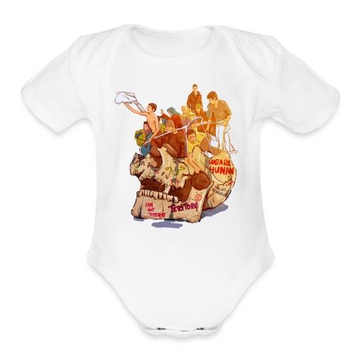 Skull & Refugees - Organic Short Sleeve Baby Bodysuit
