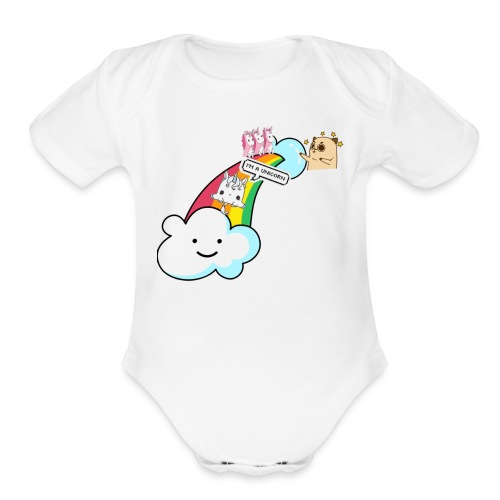 Unicorn Birthday, Unicorn Gift, Birthday Outfit - Organic Short Sleeve Baby Bodysuit