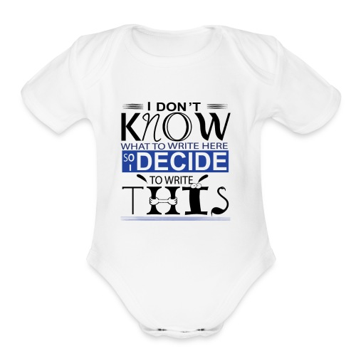 Unisex Tee Graphic Custom Design - Organic Short Sleeve Baby Bodysuit