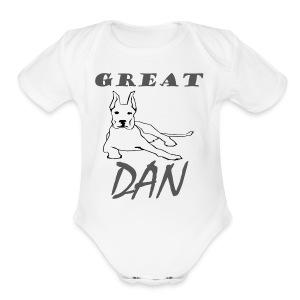 Great Dan Dog Funny Shirt For Dog Lover - Short Sleeve Baby Bodysuit