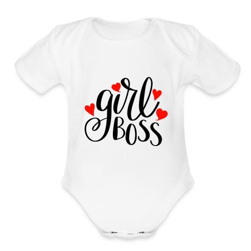 girl boss - Organic Short Sleeve Baby Bodysuit