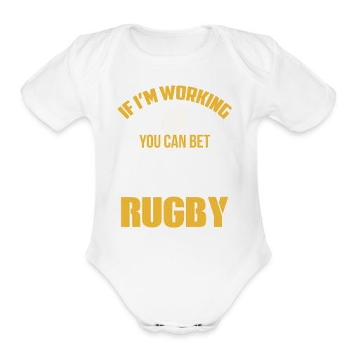 Great Gift Ideas For Rugby Lover. - Organic Short Sleeve Baby Bodysuit