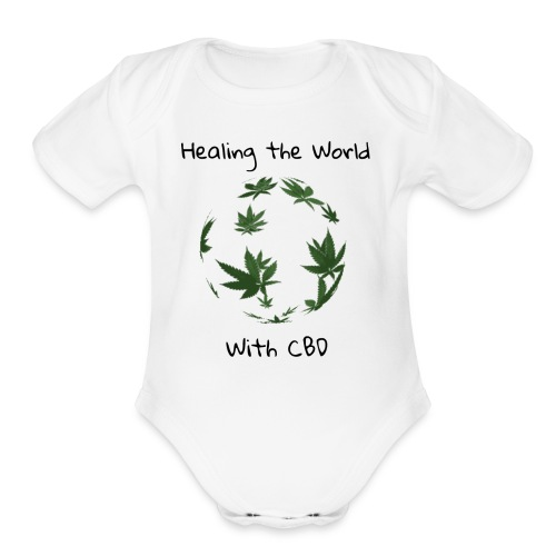 Healing the World with CBD - Organic Short Sleeve Baby Bodysuit