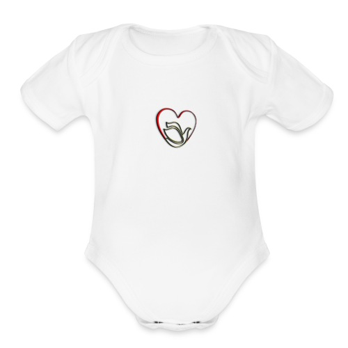 Love and Pureness of a Dove - Organic Short Sleeve Baby Bodysuit