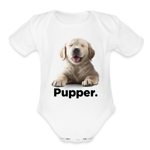 Pupper dog - Organic Short Sleeve Baby Bodysuit