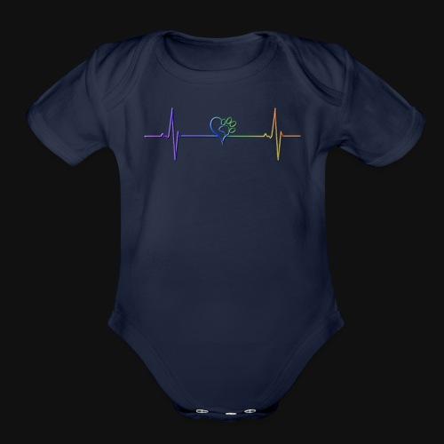 Live & Breathe Dog - Organic Short Sleeve Baby Bodysuit