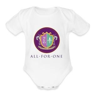 All For One Logo - Short Sleeve Baby Bodysuit
