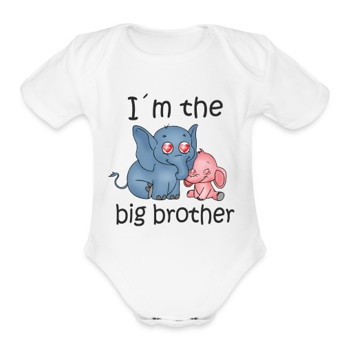 I'm the Big Brother B - Organic Short Sleeve Baby Bodysuit