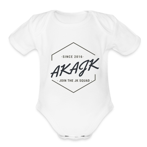 the geometric JK Squad - Organic Short Sleeve Baby Bodysuit