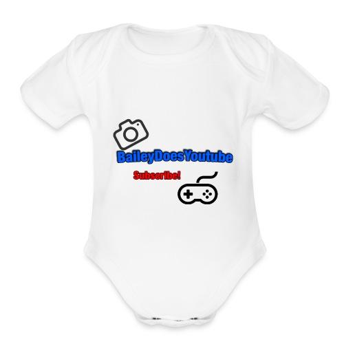 BaileyDoesYoutube - Organic Short Sleeve Baby Bodysuit