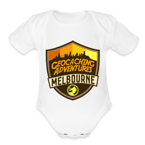 GCMelb Orange - Organic Short Sleeve Baby Bodysuit