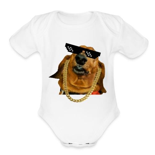 Mr. T the O.G. (SFW) - Organic Short Sleeve Baby Bodysuit