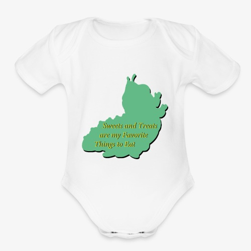 Sweets and Treats on the Chew Chew Train - Organic Short Sleeve Baby Bodysuit