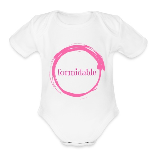 formidable - Organic Short Sleeve Baby Bodysuit