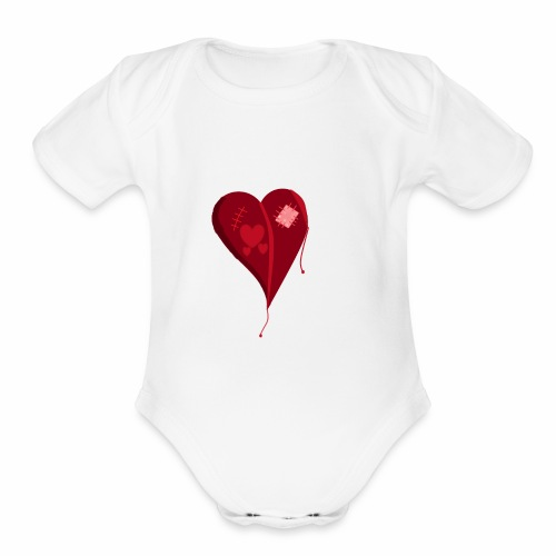 Destroyed Love - Organic Short Sleeve Baby Bodysuit