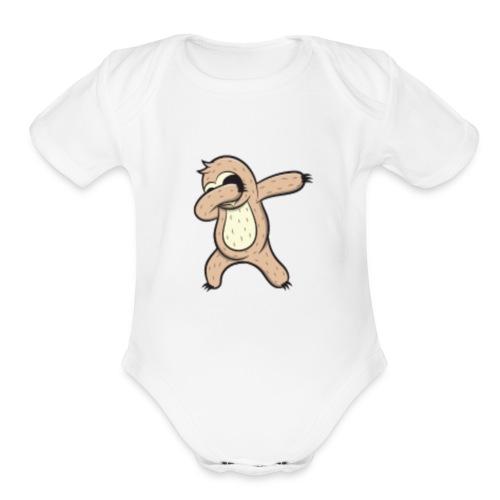 Dabbing Sloth T-Shirt - Organic Short Sleeve Baby Bodysuit