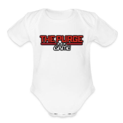 Purge Logo - Organic Short Sleeve Baby Bodysuit