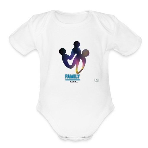 family first - Organic Short Sleeve Baby Bodysuit