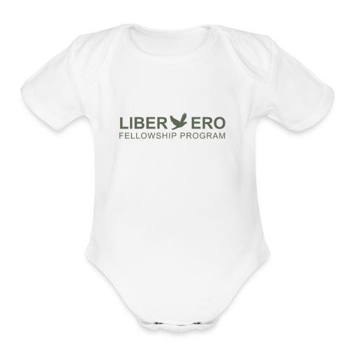 LiberEro logo - Organic Short Sleeve Baby Bodysuit