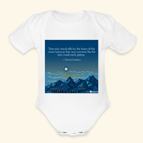 Time Only Stand Stills - Organic Short Sleeve Baby Bodysuit