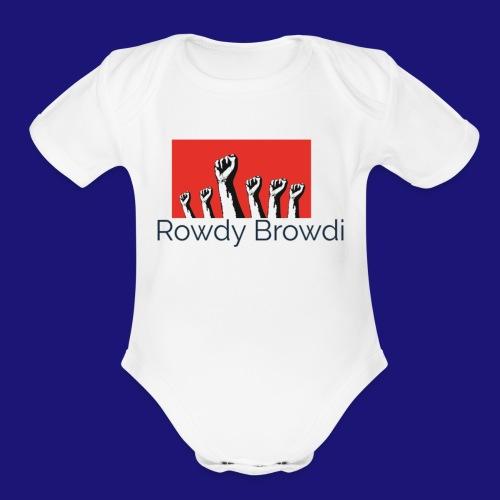 Rowdy Peace Browdi - Organic Short Sleeve Baby Bodysuit