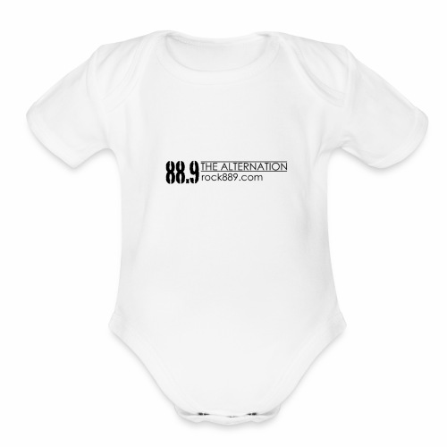 Alternation Modern Basic Logo - Organic Short Sleeve Baby Bodysuit