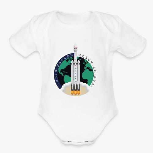 SpaceX Falcon Heavy 2018 - Organic Short Sleeve Baby Bodysuit