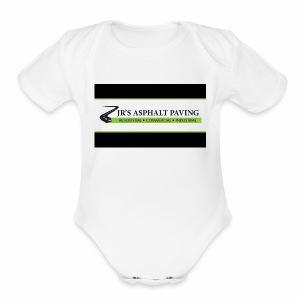 jrs asphalt - Short Sleeve Baby Bodysuit