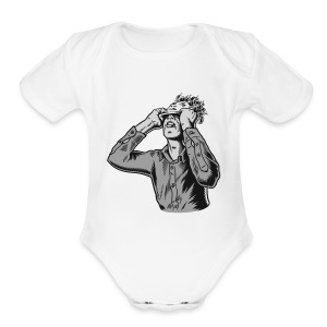 moderat logo - Short Sleeve Baby Bodysuit