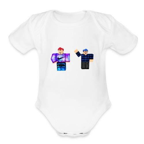 star squad - Organic Short Sleeve Baby Bodysuit