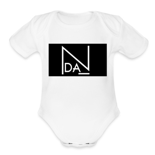 DAN Talent Group - BLACK BACK GROUND - Organic Short Sleeve Baby Bodysuit