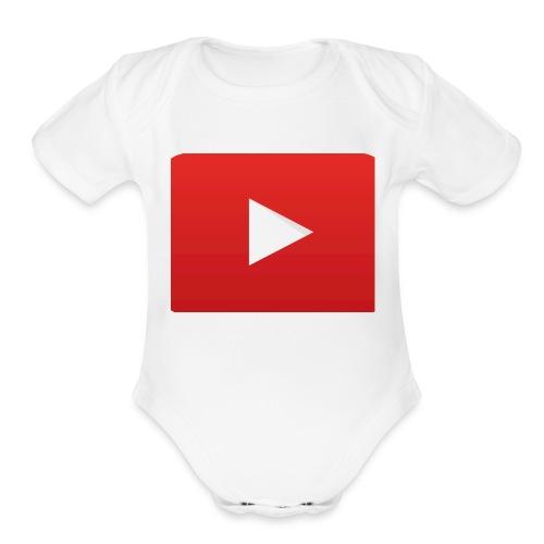 Youtube Logo! - Organic Short Sleeve Baby Bodysuit