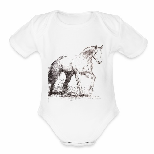 Stallion - Organic Short Sleeve Baby Bodysuit