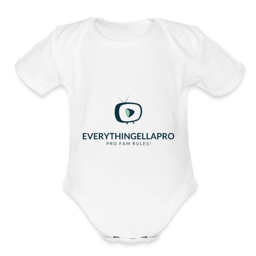 EverythingEllaPro Cool TV Video Logo - Organic Short Sleeve Baby Bodysuit