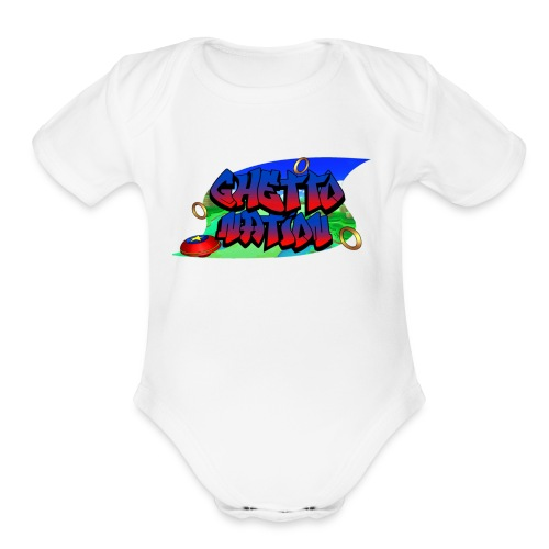 GHETTO HOG 5 (Plus Size) - Organic Short Sleeve Baby Bodysuit