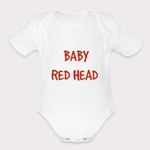 Baby RED Head - Organic Short Sleeve Baby Bodysuit