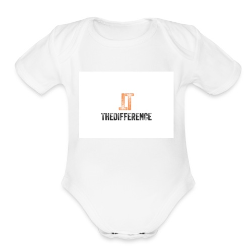 TheDifference01 - Organic Short Sleeve Baby Bodysuit
