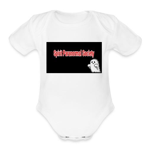 spirits parnormal society - Organic Short Sleeve Baby Bodysuit