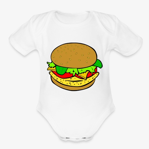 Comic Burger - Organic Short Sleeve Baby Bodysuit