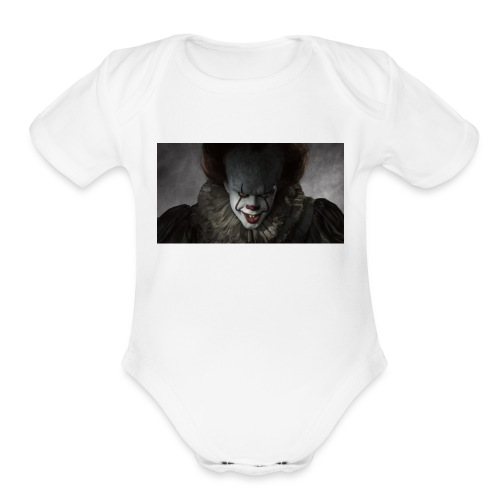 IT movie Pennywise tshirt - Organic Short Sleeve Baby Bodysuit