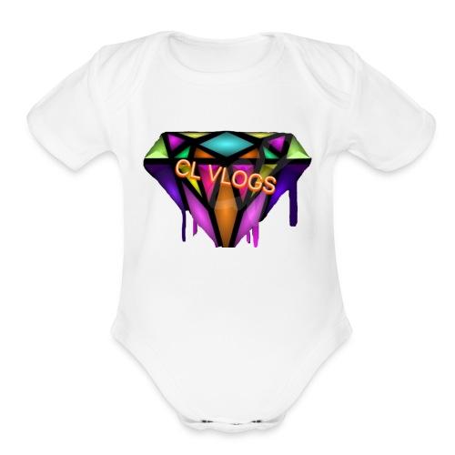 CL VLOGS - Organic Short Sleeve Baby Bodysuit