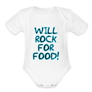 Will Rock4Food - Short Sleeve Baby Bodysuit