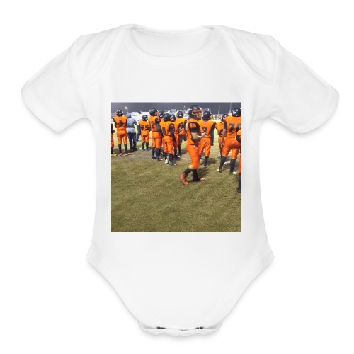 Football team - Organic Short Sleeve Baby Bodysuit