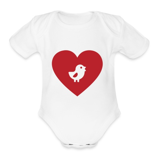 Heart Chick - Organic Short Sleeve Baby Bodysuit