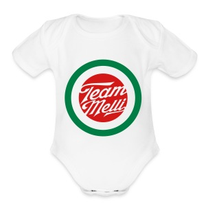 TEAM MELLI RETRO BADGE - Short Sleeve Baby Bodysuit