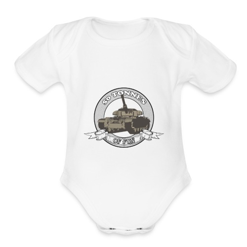 Centurion: 50 Tonnes of Fun - Organic Short Sleeve Baby Bodysuit