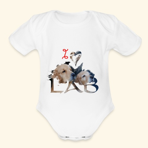 I love Lab - Organic Short Sleeve Baby Bodysuit