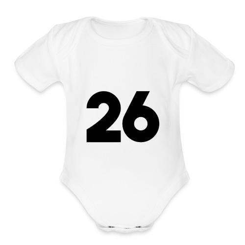Main 26 logo - Organic Short Sleeve Baby Bodysuit